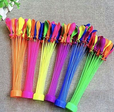 6 Bunches 222x Magic Water Balloons Self Tying Bunch O Balloon Bombs Party Toys