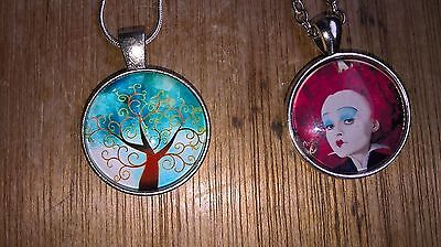 Tim burton tree of life?pendant and silver chain