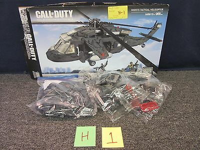 Mega Bloks Collector Series Call Of Duty Ghosts Tactical Helicopter 06858 Used