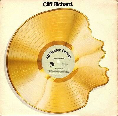 Cliff Richard ‎– 40 Golden Greats 1977 UK Double LP  NM/EX