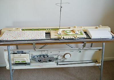 Brother KH - 881 KNITTING MACHINE with lace carriage and accessories