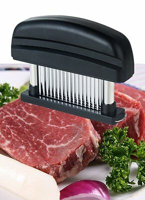Meat Tenderizer - 48-Sharp Stainless Precision Blades Delicious Steak Barbecue &