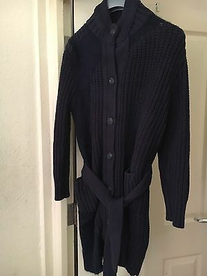 Woman Diesel Navy Long Cardigan Size S