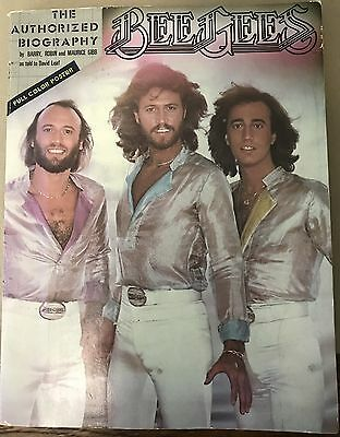 VINTAGE BEE GEES AUTHORIZED BIOGRAPHY  SOFTCOVER 1979  POSTER book