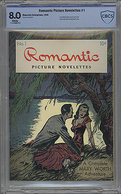 Romantic Picture Novelettes # 1 CBCS 8.0 VF White Pages 1946 Creig Flessel Cover