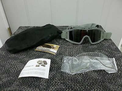 Revision Locust Protective Paintball Ballistic Shooting Goggles Dark Clear Lens