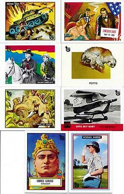 2013 Topps 75th Anniversary Complete Vintage Style 8 Mini Trading Card Set SP