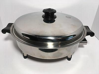 "SALADMASTER 11"" Oil Core Electric Skillet With Vapo Lock Lid Model No. 17815"