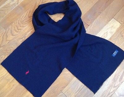 Polo Ralph Lauren Scarf 100% Wool Made In Italy!