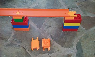 Custom Hot Wheels to Duplo Track connector Adapter toy car track Orange LOT of 4