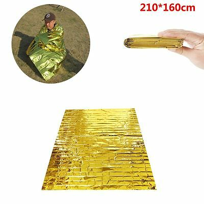 210*160CM Thermal Sunscreen Emergency Blanket Aluminum Foil First Aid
