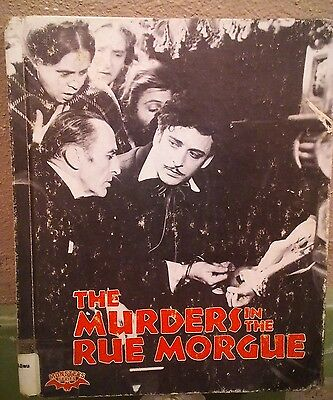 Murders in the Rue Morgue book from Movie from Allen Poe Monster Series 1987