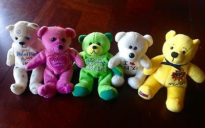 LTD EDTN Beany Bears HRC London Ireland Madame Tussauds Florida I❤️NY JOB LOT 5