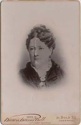 Cabinet Photo Victorian Lady Dress Fashion - Brown Barnes & Bell of Liverpool