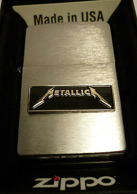 ZIPPO. METALLICA. Mechero Gasolina 1º Marca. METALLICA .Made in USA.