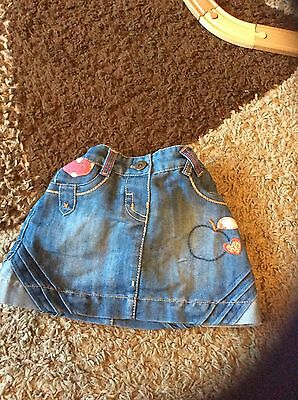 girls denim skirt age 12-18 months