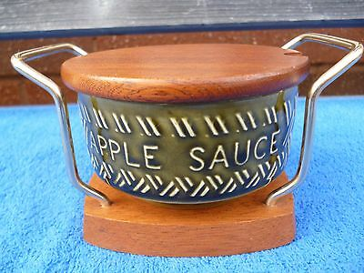 Vintage 1970's Apple Sauce Pot , Lord Nelson , Wyncraft Stand.