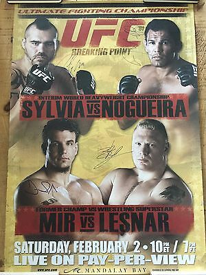 UFC 81 Poster - Signed By Main Event - BROCK LESNAR DEBUT