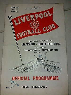 Liverpool v Sheffield United 10/9/1958