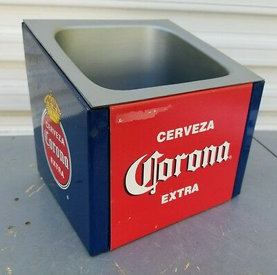 RARE Corona Extra Cerveza Beer Metal Countertop Display Ice Chest / Holder