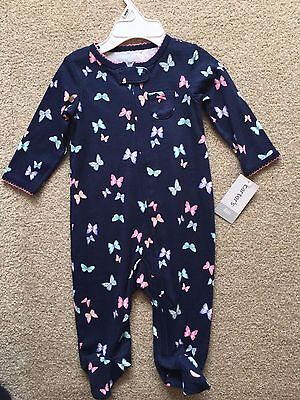 BNWT Carter's Baby Girls Babygrow Sleepsuit Footed Pyjamas Zip Size 6 months