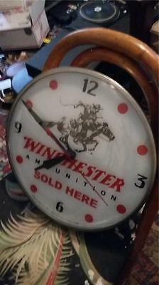 Vintage Pam Winchester Light Up Clock. .winchester Ammo,gun