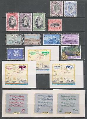 TONGA - 18 x Mint & Used Stamps - Early/Modern