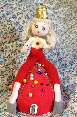 Vintage Pincushion Tape Measure and Cloth Doll 1950's/1960's