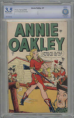 Annie Oakley # 1 CBCS 3.5 VG- OW/W 1948 Timely Comics HARD TO FIND Not CGC