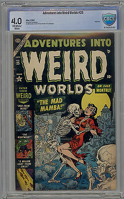 Adventures Into Weird Worlds #25 CBCS 4.0 Classic PRE CODE Horror PCH 1954 Atlas