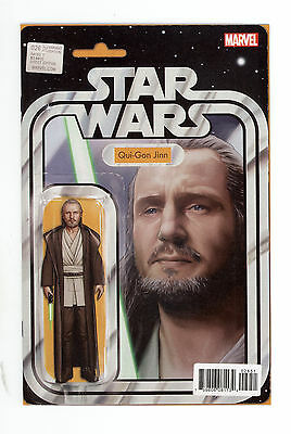 Star Wars # 26 Qui Gon Jinn Action Figure Variant JTC Exclusive READY TO SHIP