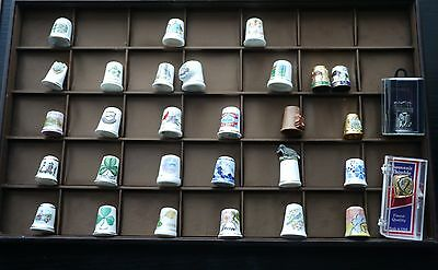 Lot of 30 assorted collectable thimbles porcelain metal US Ireland etc.
