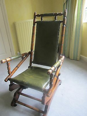 Exceptional Antique Rocking Chair Victorian/ Early Edwardian Excellent Condition