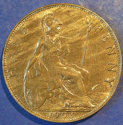 1903 ½d Edward VII Halfpenny in an extremely high grade