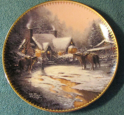 """A Christmas Welcome"" Thomas Kinkade 2nd in 1997 Series - Bradford Exchange"
