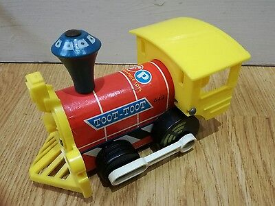 Vintage 1964 Fisher Price Toot Toot Train Good Condition