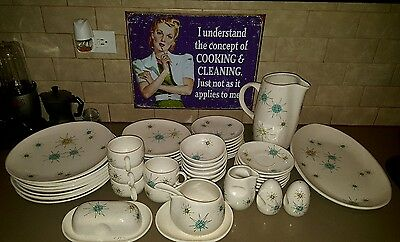 Franciscan Atomic Starburst Rare Vintage Collector's Large Dish Set - Great Cond