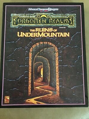AD&D Dungeons & Dragons The Ruins Of UnderMountain Forgotten Realms 2nd Edition