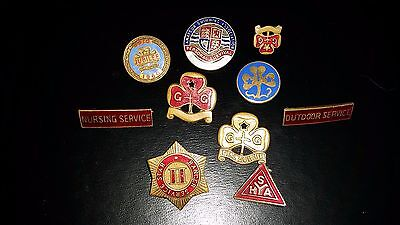 Collection of 1940s Girl Guide pins