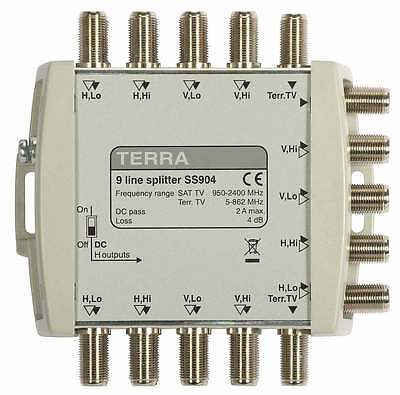NEW TV/SAT Splitter Terra SS904 9 line splitter (9-in, 18-out)