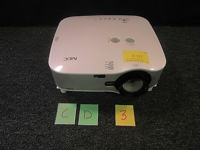 Nec Np2000 Lcd Home Theater Video Projector Presentation Bulb Hours 210 Used