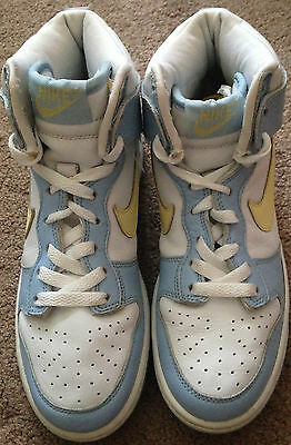Nike,  Ladies/Girls,  High Top,  Blue and White,  Trainers,  size 4