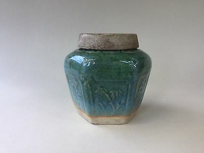 20th Century Chinese Green Ginger Jar