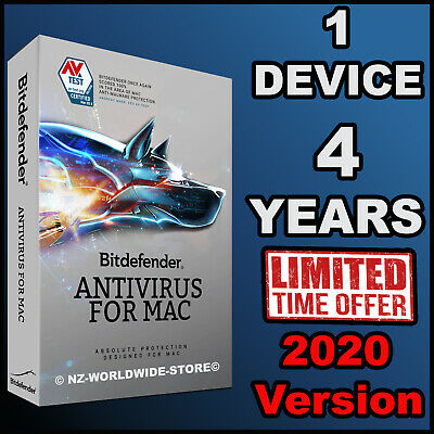 Bitdefender Antivirus for MAC OS X  4 YEARS Activation 1 Device - Download