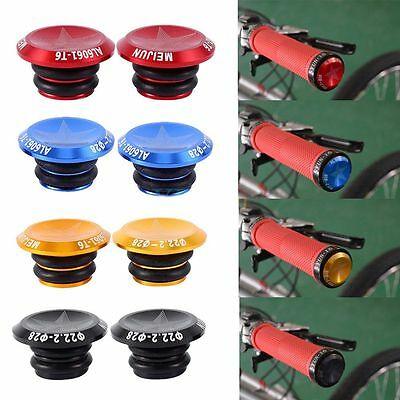 Cycling New Aluminum Alloy Grips Caps Covers Bike Handlebar End Lock-On Plugs