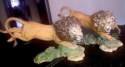 Franklin Mint Archive!! 2- Pride Of The Serengeti Lions- Hand Pained Prototype !