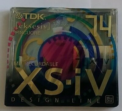 MINIDISC MD TDK XS-IV Limited Series 1x MD-XS74BAEA PINCUORE NEW SEALED