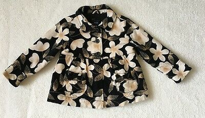 ***Gap girls Floral Cord padded coat jacket 4 years VGC***