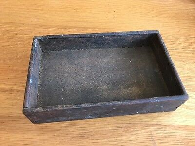 """Antique Vintage Solid Wood Tool Box Single Tray 6 3/8"""" X 3 7/8"""""""