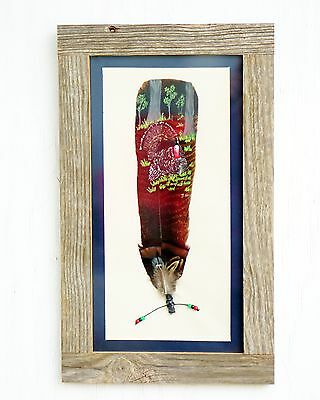 Turkey Feather Painting